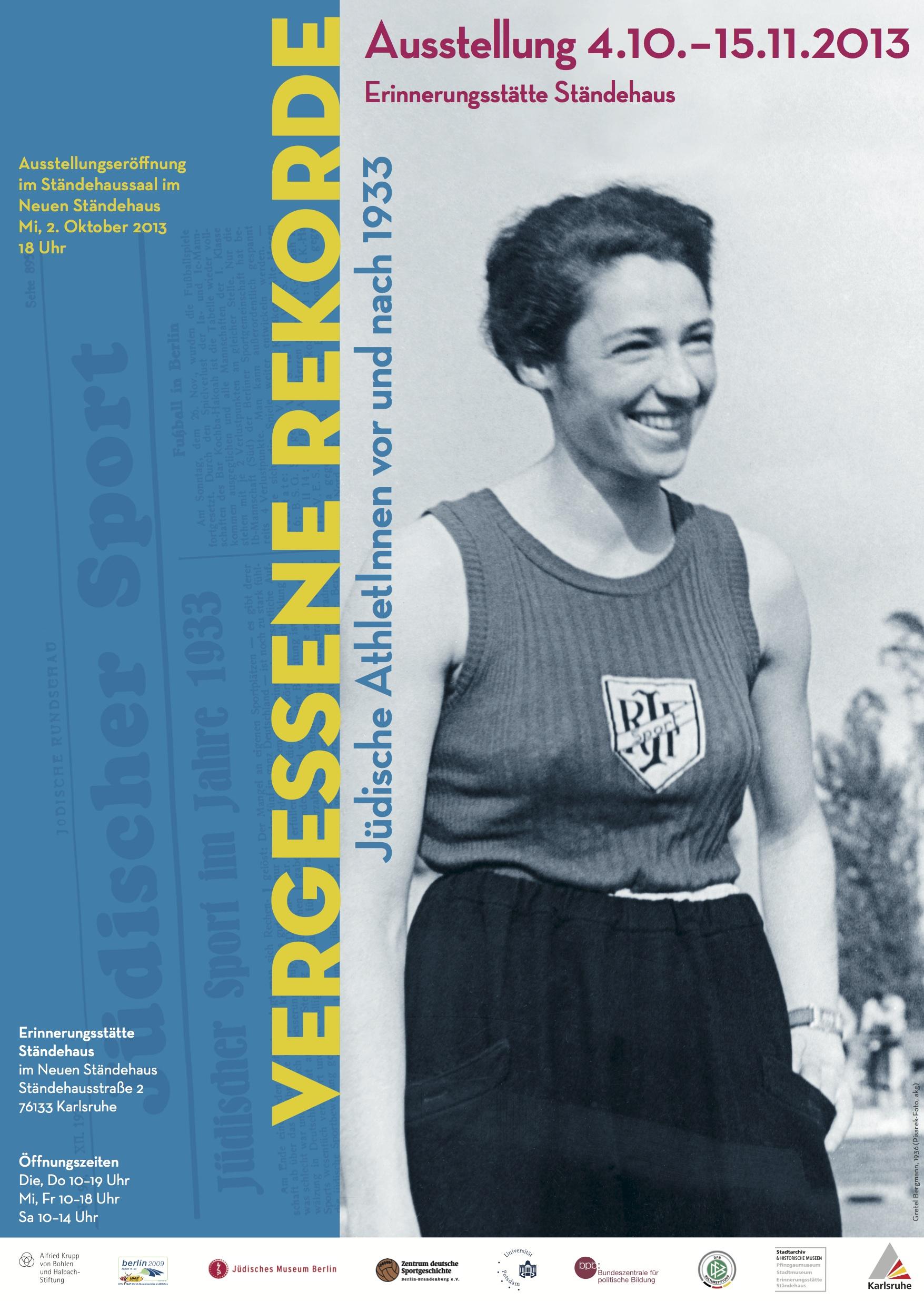 Plakat Vergessene Rekorde in Karlsruhe