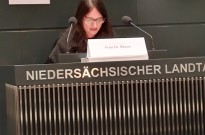 Dr. Jutta Braun zu Gast im Niedersächsischen Landtag.